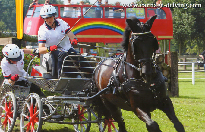 Team Bennington appears on front cover of Carriage Driving